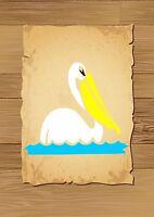 Pelican swimming on the Water Stencil 350 micron Mylar not thin stuff #Bird014