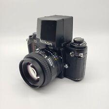 Nikon F3 35mm SLR Film Camera w/ DA-2 Action View Finder & 50mm f/1.4D Pre-owned