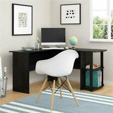 Fch L-Shaped Corner Computer Desk Home Office Desk Furniture Black