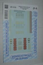 Microscale Decal N  #60-1174  Western and Atlantic Freight /& Passenger Cars 186