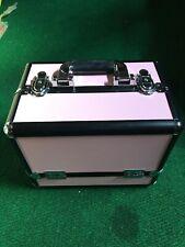 Large Pro Aluminum Makeup Train Case Jewelry Box Cosmetic Organizer PINK