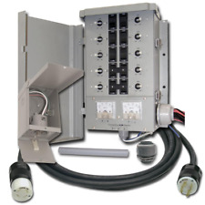 Manual Transfer Switch Kit 30 Amp 8 Space 10 Circuits With Double Throw Rocker