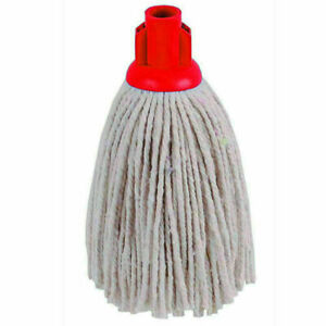 240 GM Cotton String Mop Head RED Socket Refill Floor Tile Cleaning.PACK OF 5