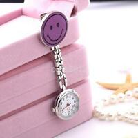 Nurse Clip-on Fob Brooch Pendant Hanging Fobwatch Butterfly Smile Pocket Watch