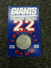 PHILLIPPI SPARKS #22 Tailgate Club COIN 1998 Sealed New York football Giants