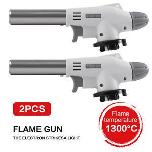 2X Portable Camping Gas Torch Flame Gun Welding Fire Maker Lighter Butane Burner
