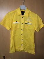 Neu G-Star RAW Hemd Gr S Shirts Kurzarm Shirt Liniert Sommer Yellow