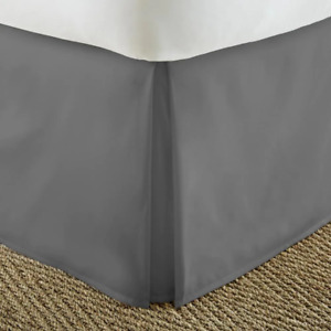 Bed Skirt Queen Size Antimicrobial Hypoallergenic Fade Resistant Microfiber Gray