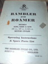 RAMBLER & ROAMER 150  R/BIS , R / 197 R/B2S / 242 R/TS OPERATING & SPARE PARTS