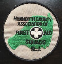 Vintage Monmouth County New Jersey First Aid Squads Shoulder Patch USA EMT