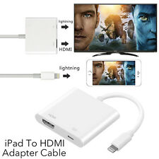 8 Pin Lightning to Digital AV Adapter HDMI Cable For iPhone 7 6 6S iPad Air HA7G