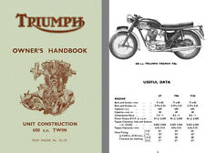 Triumph 650cc Twin Owners Handbook for Unit Construction 650 cc Twin From Engine