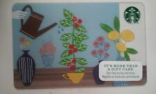 STARBUCK'S GARDENER FLOWER POT GIFT CARD NO CASH VALUE