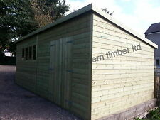 20 x 10ft 19MM Tanalised PENT  HEAVY DUTY Workshop/Shed **FREE WINTER UPGRADE**