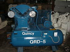 5.0 HP Quincy QRDS tankmount oilless compressor