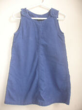 RALPH LAUREN GIRLS CORDUROY DRESS JUMPER size 4 4T NAVY BLUE 100% COTTON POCKETS