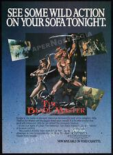 THE BLADE MASTER__Original 1984 Print AD / video promo__Miles O'Keeffe__MST3K