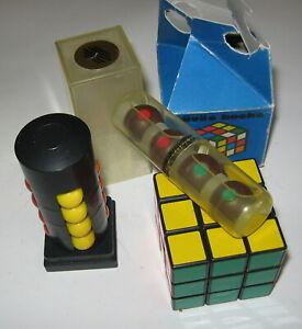 Magic Tower of Babylon, Magic Balls,Magic Rubik's Cube 80s POLITOYS ORIGINAL BOX