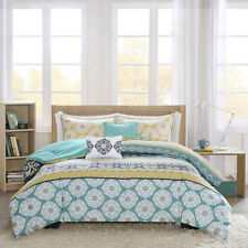 Beautiful Modern Blue Green Teal Aqua Navy Bohemian Tropical Chic Comforter Set