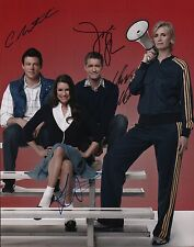 Glee (Cory Monteith, Lea Michele, Jane Lynch, & Matthew Morrison) signed 11x1...