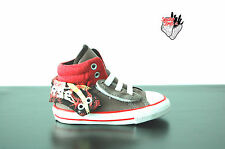 Converse Chuck Taylor CT PC2 Mid grey / fire red Kids Youths Trainer uk infant 4
