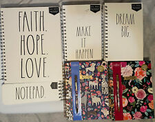 Rae Dunn Spiral Hardcover Notebook & Other Hardcover Spiral Notebooks W/ Sticker
