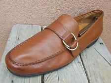 POLO RALPH LAUREN Mens Driving Shoes Soft Cognac Brown Buckle Loafers Size 10.5D