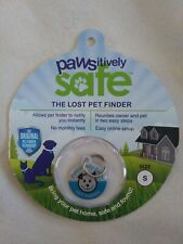 Pawsitively Safe Small BLUE Lost Pet Finder Tag  Dog/Cats Secure Mobile Tablet