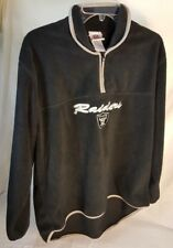 "NFL Fleece Jacket For Her Size L ""Raiders"" Black Long Sleeve Pull Over Jacket"