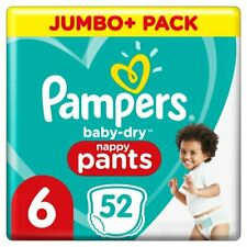Pampers Baby Dry Nappy Pants Disposable Cotton Nappies Size 5 Jumbo 60 Pack
