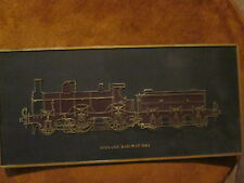 MIDLAND RAILWAY1866 STEAM TRAIN ENGINE BLACK/GOLD PLAQUE MADE FRANK DOWN LTD