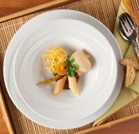 Seltmann Weiden Serie Monaco 6 x Suppenteller 23 cm Neuware Weiß 2 Wahl Gastro