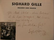 Sighard Gille Original Katalog signed signiert autograph Signatur Autogramm