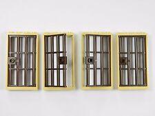 LEGO BANDITI PORTA Gate 1x4x6 Tan Brown x4 per Castle CARCERE PRIGIONE CARCERE BARRE