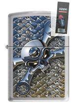 Zippo 5086 socket spanner brushed chrome Lighter + FLINT PACK