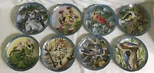 """Derk Hansen """"Winged Treasures� Collectible Plates By The Danbury Mint - Set Of 8"""