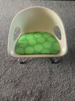 Mid Century Modern Hamilton Cosco Molded Booster Seat Chair Green Polka Dots