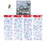 WHITE GLITTER SNOWFLAKES WINDOW STICKERS CHRISTMAS Clings Reusable Decoration UK