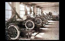 Vintage Harley Davidson Motorcycle Factory PHOTO Early Mechanic Shop Bike Garage