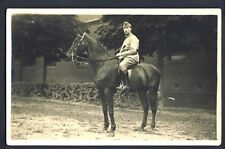 Carte Postale Photo RPPC Cheval MILITAIRE SOLDAT CAVALIER du 19ème Régiment