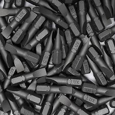 """100 Bits 0,8x5,5mm Schrauberbits Längs Schlitz Stahl S2 Bit 25mm 1/4"""" Aufnahme"""