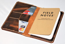 Handmade Field Notes Cover Wallet Wheat Harvest Leather