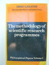 The methodology of sceientifc research programmes Philosphical Papers Volume 1
