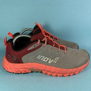 Inov8 Women's PARKCLAW 275 Trail Running Shoes Grey And Red Size 11