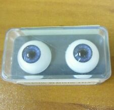 Vintage New Glastic Realistic Eyes Glass Craft Doll Parts NOS 14 mm Blue