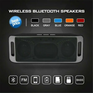 Bluetooth Speaker Wireless Portable Stereo Sound Bass Sound Subwoofer Speakers
