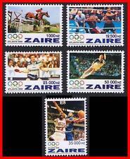 ZAIRE/CONGO  1996 ATLANTA USA = OLYMPIC GAMES / OLYMPICS  MNH TENNIS, HORSES
