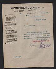 OBERDOLLENDORF a. Rh., Brief 1921, Rheinischer VULKAN GmbH