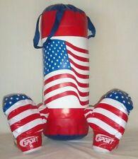 "Boxing / Punching Usa Flag Bag Set with 4 oz. Gloves - 22"" Long"
