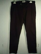 "Marks & Spencer Berry Colour Casual Trousers.Straight Leg Cotton.Waist34"".Leg33"""